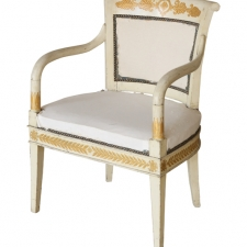 LGW march 2018 gilded white armchair1a
