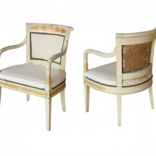 French Neoclassical Arm Chairs