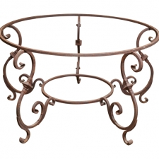 Italian iron table base
